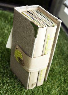 mini album, love this style Mini Album Scrapbook, Mini Albums Scrap, Scrapbook Paper, Scrapbook Photos, Scrapbook Journal, Filofax, Handmade Books, Handmade Journals, Album Book