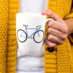 Yellowstone Racer Bicycle Mug -  Blue