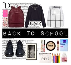 """""""Back to school"""" by stylebyangelina ❤ liked on Polyvore featuring art"""