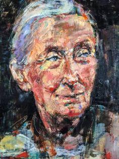 "Saatchi Art Artist Ezshwan Winding; Painting, ""Jane Goodall, A Woman Who Changed the World"" #art"