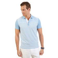 Slim Fit Striped Performance Deck Polo Shirt
