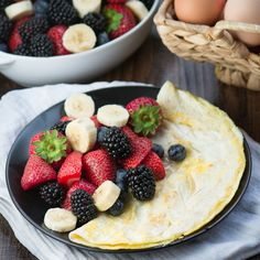 Coconut and Honey Omelette - A delicious sweet omelette, flavoured with coconut oil and a hint of honey. Quick and easy to make - ready in just 5 minutes. Perfect for a healthy breakfast treat.