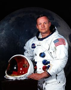 Neil Armstrong ~  I remember as a young girl  watching and waiting to see this man step out on to the moon...still sends shivers up my spine to think of it. How fantastic is that after 40 some years?