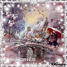 Merry Christmas Gif, Christmas Scenes, Vintage Christmas Cards, Christmas Love, Christmas Deco, Christmas Snowman, Beautiful Christmas, Winter Christmas, Xmas