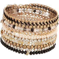 ALDO Reesea bracelet ($15) ❤ liked on Polyvore featuring jewelry, bracelets, accessories, pulseiras, bijoux, natural, aldo, bracelet bangle, aldo jewelry and aldo bracelet