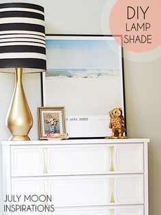 How to make a painted lampshade for under $10 with a thrifted shade and some acrylic paint!