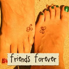 Friendship tattoo...this one is simple but cute donetta!