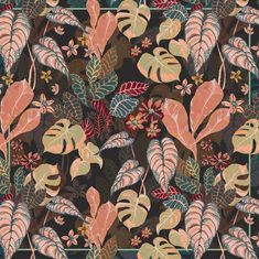 Jungle foliage pattern - irina muñoz clares | fashion graphics + illustration