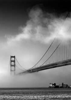 Manuel Frei ~ Love this shot of the fog rolling in from the Bay over the Golden Gate Bridge in San Francisco