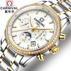 2017 Special Offer Carnival Watch Fully-automatic Mechanical Male Mens Steel Strip Commercial Multifunctional Waterproof  #Affiliate