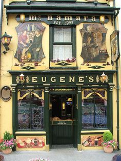 Eugene's Bar, Main St, Ennistymon, Co. Clare, Ireland - possibly our favourite pub in Ireland. Love Ireland, Ireland Travel, Ireland Pubs, Dublin Pubs, London Pubs, Bar Deco, County Clare, Irish Roots, Irish Blessing