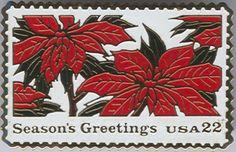 USA 22c Christmas Postage Stamp Pin