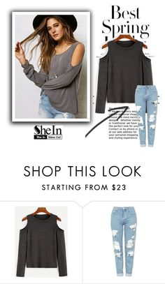 """""""SheIn"""" by meriiiii ❤ liked on Polyvore featuring H&M and Topshop"""