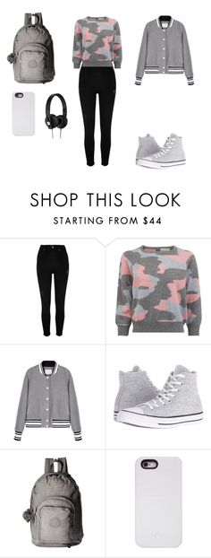"""""""Untitled #61"""" by elma-alibasic ❤ liked on Polyvore featuring River Island, Converse, Kipling and LuMee"""