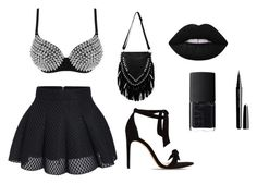"""""""🌑🌑🌑🌑🌑🌑"""" by lona-adil ❤ liked on Polyvore featuring Alexandre Birman, Lime Crime, NARS Cosmetics and Marc Jacobs"""