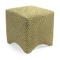 Love this Marisa Graphic ottoman for a hit of pattern and colour!