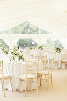 Classic Marquee Reception - Rachel Rose Photography | Classic Pastel At Home Marquee Wedding