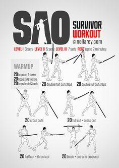 SAO Survivor Workout When nerdiness meets fitness...