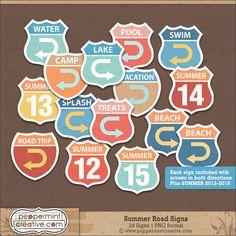 Summer Road Signs #beach #swim