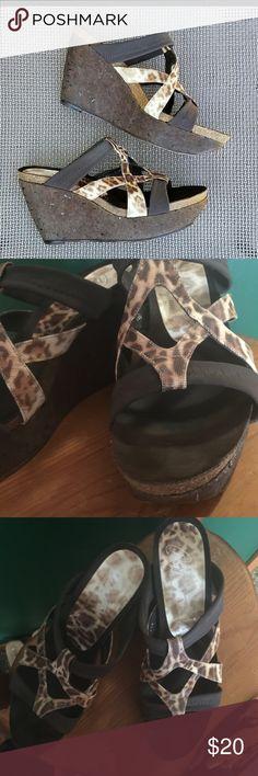Donald j pliner snakeskin wedge Cork and snakeskin make them comfy and chic Donald J. Pliner Shoes Wedges