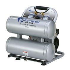 California Air Tools Ultra Quiet 1-HP 4.6-Gallon 120-PSI 110-Volt Twin Stack Stationary Electric Air Compressor