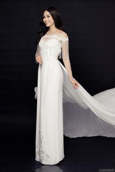 Mâu Thủy lộng lẫy trong BST áo dài cưới LAHAVA