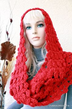 Chunky Crochet Infinity Scarf Crochet Infinity by crochetlyubava, $55.00