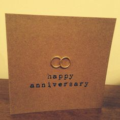 Vintage Style Shabby Chic Anniversary, engagement or wedding congratulations card - hand made in typewriter - personalised for free on Etsy, £2.50