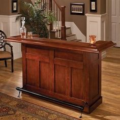 Hillsdale Furniture large cherry bar goes great in any basement, den, or home bar. The built in wine rack holds up to 12 bottles of your favorite wine or liquor. Storage cabinets provide additional space for bar supplies. This large bar is constructed of Bar Furniture For Sale, Home Bar Furniture, Furniture Ideas, Entry Furniture, Mirrored Furniture, Discount Furniture, Furniture Removal, Furniture Stores, Cheap Furniture