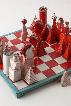 Terracotta chess set