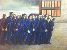 Aligi Sassu, Lo sciopero, 1956