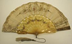 Fan ca. 1846 via The Costume Institute of The Metropolitan Museum of Art.