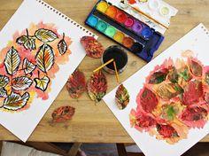 *Starlights in the Kitchen*: [MAMTALK7] DIY - kinderleichte Herbstbilder und Girlanden mit Blätter und Farbe gestalten
