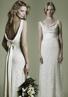 vintage 1940s simple lace backless wedding dress....this was my dream dress growing up.