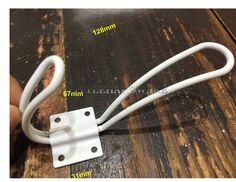 White big iron rustic coat hooks/furniture hooks/metal hooks/decorative hooks/furniture hardware- 128mmX67mm  - HK0031 by LittleHardware on Etsy https://www.etsy.com/au/listing/537539687/white-big-iron-rustic-coat