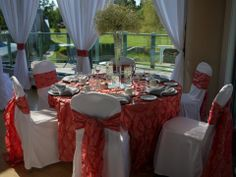 Coral Wedding Décor at Langley Golf and Banquet Centre