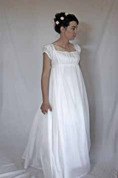 White Regency dress. @Beverly Murray look your on Pinterest!! :)