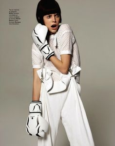 visual optimism; fashion editorials, shows, campaigns & more!: tell me white: mathilda tolvanen by stratis for grazia france 5th july 2013