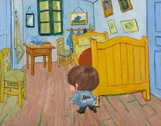 V Chibi, Painting, Art, Art Background, Painting Art, Kunst, Paintings, Performing Arts, Painted Canvas