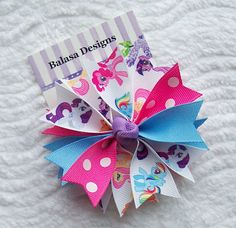 Boutique Little Ponies Spike Hair Bow by Balasadesigns on Etsy, $3.75