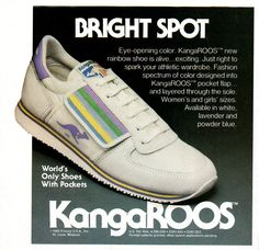 #80s #fashion #style #shoes #kangaroos #pastel