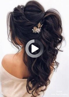 Stunning Wedding Hairstyles For The Elegant Bride - Page 2 of Wedding Hairstyles For Medium Hair, Wedding Hairstyles Half Up Half Down, Short Wedding Hair, Wedding Hairstyles For Long Hair, Elegant Hairstyles, Twist Hairstyles, Cool Hairstyles, Trendy Wedding, Medium Hair Styles