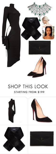 """""""Untitled #2239"""" by dani-gracik on Polyvore featuring Dolce&Gabbana, Christian Louboutin, Harrods, Yves Saint Laurent, Fabergé, ASOS and allblackoutfit"""
