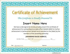 Certificate of excellence for ms word download at http certificate of achievement template certificate of achievement office templates free printable certificates of achievement formal award certificate yelopaper