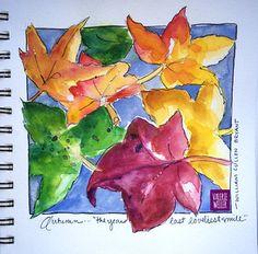 FALL LEAVES | watercolor sketch in my new Stillman & Birn sk… | Flickr Watercolor Journal, Watercolor Sketch, Fall Leaves, Autumn Leaves