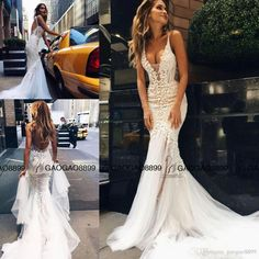 2017 Pallas Couture Amazing Detail Sexy Outdoor Mermaid Wedding Dresses 3d Floral Lace Spaghetti Backless Country Wedding Gowns Shop Wedding Dress Simple Mermaid Wedding Dresses From Gaogao8899, $138.4  Dhgate.Com