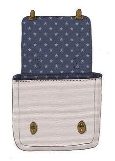 Free sewing pattern sewing a schoolbag Diy Handbag, Diy Purse, Purse Wallet, Sewing Patterns Free, Free Sewing, Pattern Sewing, Diy Sac, Sacs Diy, Diy Bags Purses