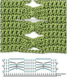 Схемы интересных узоров. Вязание крючком. / Вязание крючком / Вязание крючком для начинающих