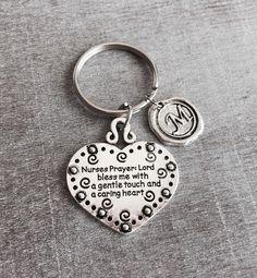 Nurses Prayer, Lord Bless me with a gentle touch, RN, LPN, Nurse Gift, Nurse Keychain, Nurse Keyring,Personalized Keychain,Custom keychain by SAjolie, $18.95 USD