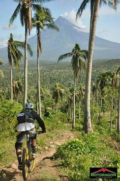 mountain bike - path to mountain
